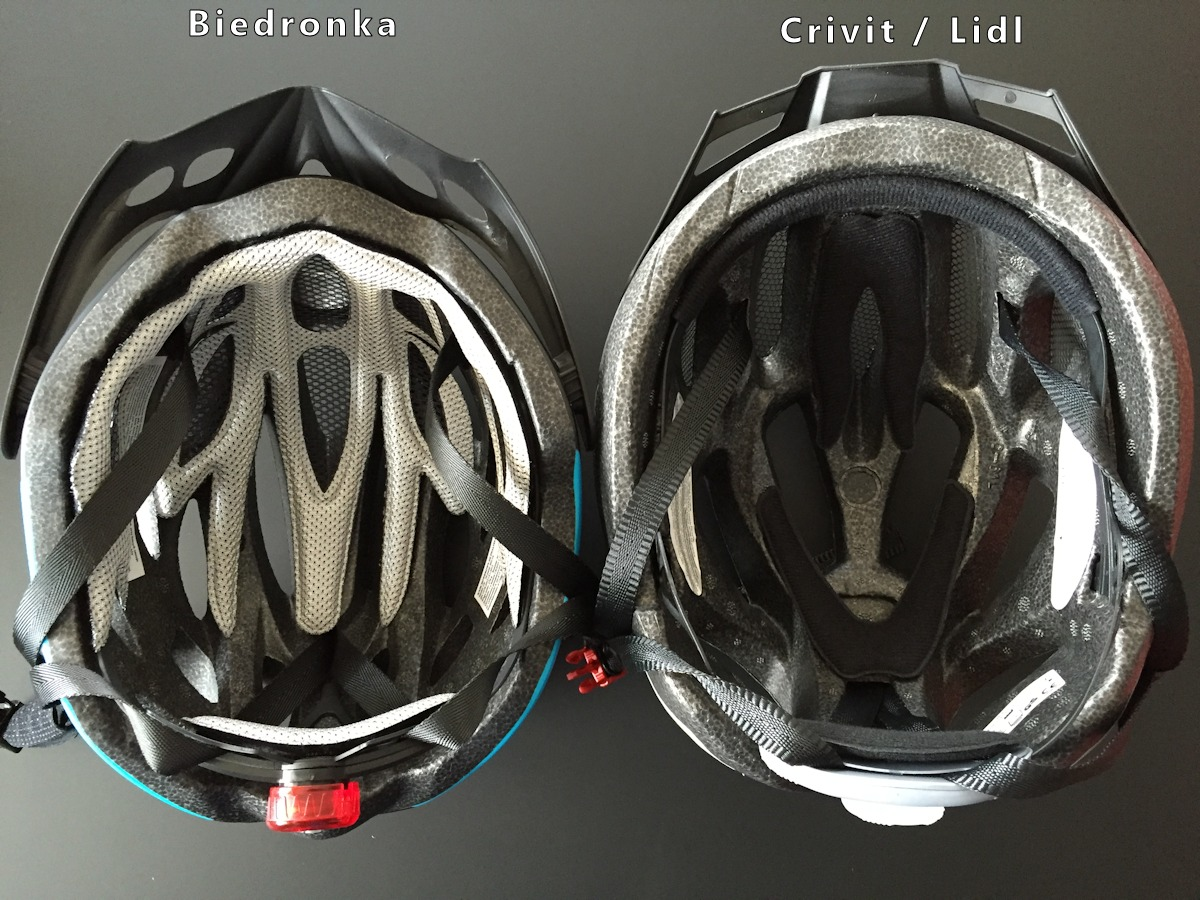 Kask rowerowy z Biedronki vs. Crivit / Lidl - fot. NaZakupy.net