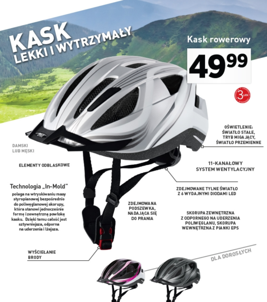 kask rowerowy Crivit / screen gazetki Lidl