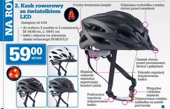 kask rowerowy w ofercie Biedronki / screen z gazetki sieci Biedronka